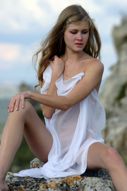 Beautiful slim european girl in very..
