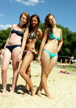 Beach bikini, sexy teens on the beach,..