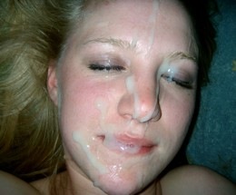 Cute chicks with cum covered faces,..