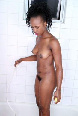 Young black pussy in the bathroom,..